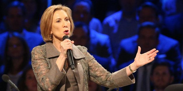 Republican presidential candidate Carly Fiorina speaks at the North Texas Presidential Forum at Prestonwood Baptist Church Su