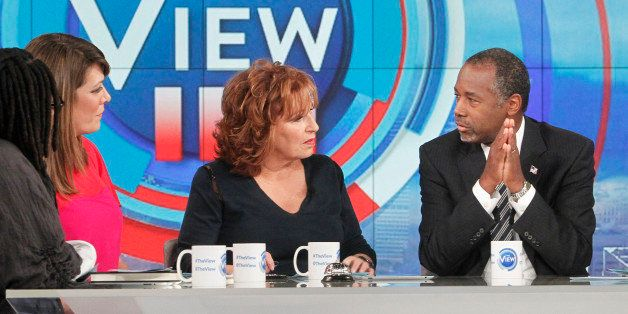 THE VIEW -  Republican presidential candidate Dr. Ben Carson is the guest today, October 6, 2015 on ABC's 'The View.'   'The