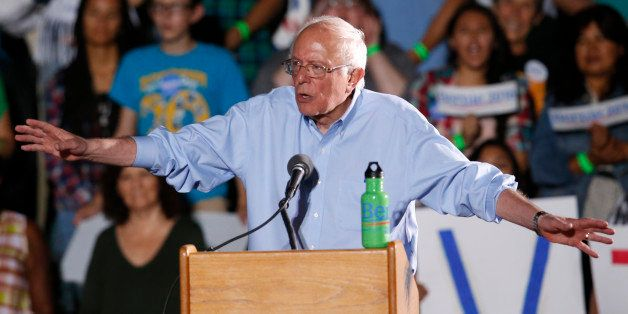 Democratic presidential candidate Sen. Bernie Sanders, I-Vt. speaks during a rally, Friday, Oct. 9, 2015, in Tucson, Ariz. (A