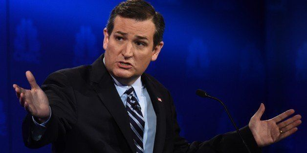 Republican Presidential hopeful  Ted Cruz  speaks during the CNBC Republican Presidential Debate, October 28, 2015 at the Coo