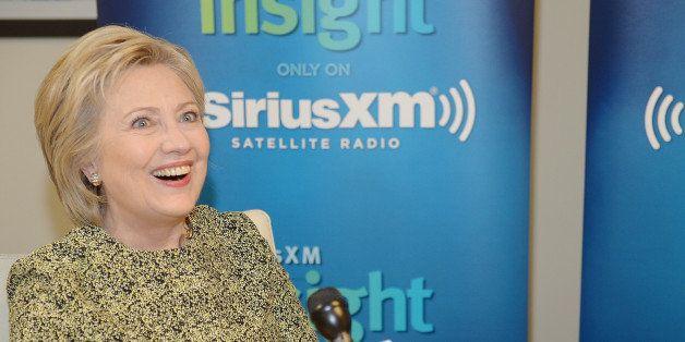 MIAMI BEACH, FL - MARCH 10:  Hillary Clinton Talks With Miami Beach Mayor Philip Levine For His SiriusXM Show 'The Mayor' at