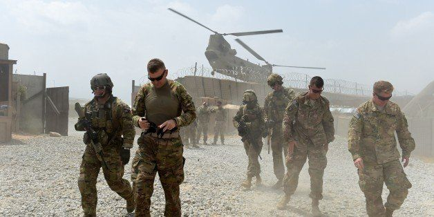 TO GO WITH AFGHANISTAN-US-ARMY-CONFLICT-FOCUS BY GUILLAUME DECAMME In this photograph taken on August 13, 2015, US army sold