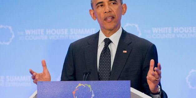 FILE- In this Feb. 19, 2015, photo, President Barack Obama speaks at the Countering Violent Extremism (CVE) Summit at the Sta