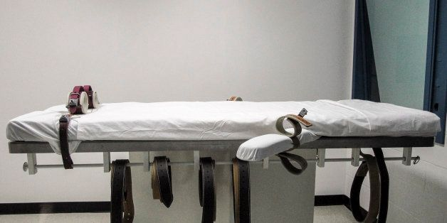 FILE - This July 7, 2010 file photo shows Nebraska's lethal injection chamber at the State Penitentiary in Lincoln, Neb. Ther
