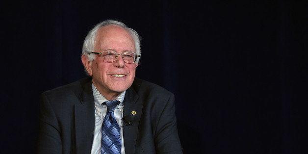 LAS VEGAS, NV - NOVEMBER 09:  Democratic presidential candidate Sen. Bernie Sanders (I-VT) smiles during a forum organized by