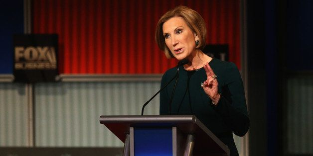 MILWAUKEE, WI - NOVEMBER 10:  Republican presidential candidate Carly Fiorina speaks during the Republican Presidential Debat
