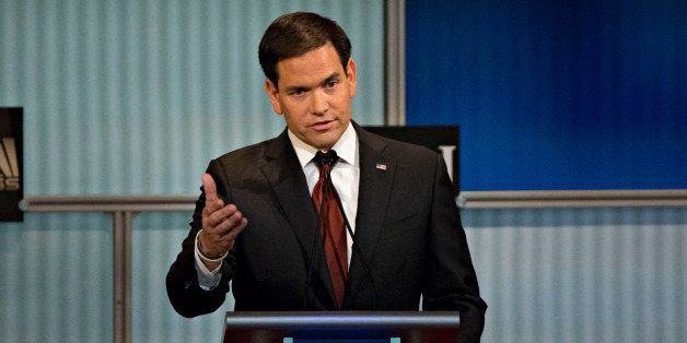 Senator Marco Rubio, a Republican from Florida and 2016 Republican presidential candidate, speaks during a presidential candi