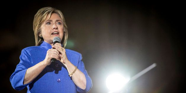Hillary Clinton, former U.S. secretary of state and 2016 Democratic presidential candidate, speaks during a campaign rally in