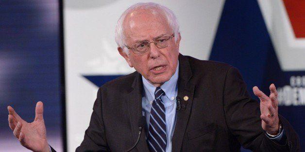 Democratic Presidential hopeful Bernie Sanders speaks during the second Democratic presidential primary debate in the Sheslow