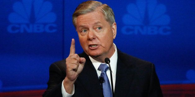 CNBC EVENTS -- The Republican Presidential Debate: Your Money, Your Vote -- Pictured: Lindsey Graham participates in CNBC's '
