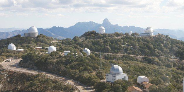 Kitt Peak National Observatory, Arizona - A field of telescopes dots the summit of Kitt Peak, on the Tohono Oodham First Nati