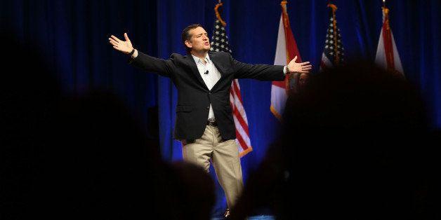 ORLANDO, FL - NOVEMBER 13:  Republican presidential candidate Sen. Ted Cruz (R-TX) speaks during the Sunshine Summit conferen