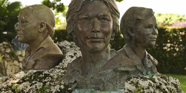 Busts of the Mirabal sisters at the museum in the village of Salcedo, 150 km north of Santo Domingo on June 10, 2008. The Mir