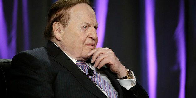 Las Vegas Sands Corp. CEO Sheldon Adelson speaks at the Global Gaming Expo Wednesday, Oct. 1, 2014, in Las Vegas. (AP Photo/J