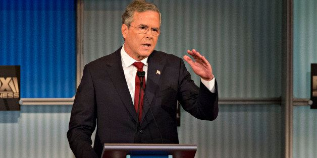 Jeb Bush, former Governor of Florida and 2016 Republican presidential candidate, speaks during a presidential candidate debat