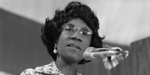 Rep. Shirley Chisholm of New York presents her views in Washington on June 24, 1972, before the panel drafting the platform f