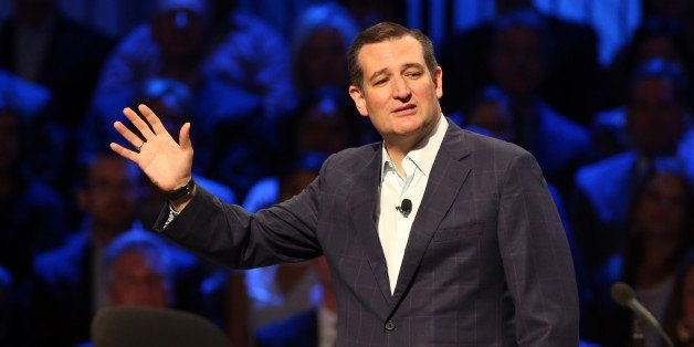 Republican presidential candidate Ted Cruz speaks at the North Texas Presidential Forum at Prestonwood Baptist Church Sunday,