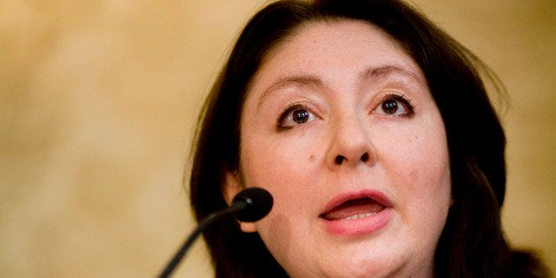 Maryam Namazie of the British Committee for Ex-Muslims, makes a statement during a press conference after the launch of the D