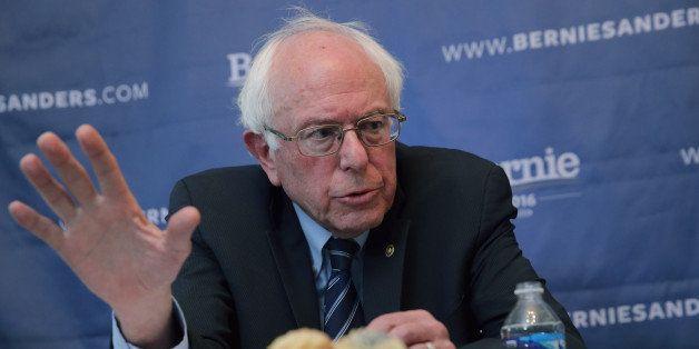 WASHINGTON, DC - DECEMBER 07:  Democratic presidential candidate Sen. Bernie Sanders (I-VT) participates in an internet live