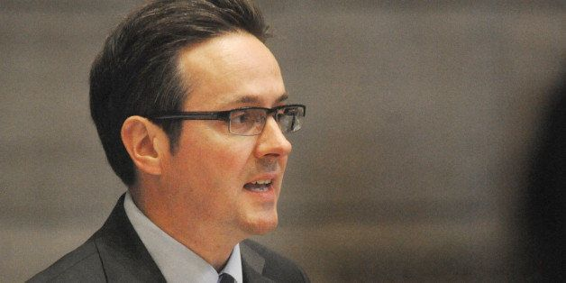FILE - In this May 13, 2015 file photo, Sen. Kurt Schaefer, R-Columbia, speaks to colleagues on the last day of the regular s