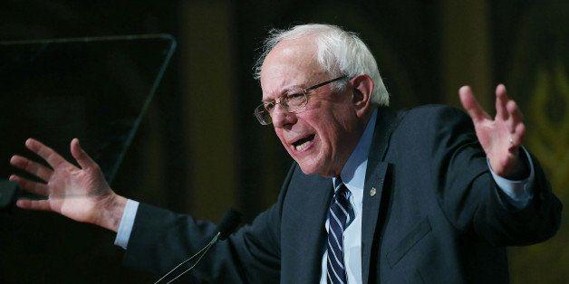 WASHINGTON, DC - NOVEMBER 19: Democratic Presidential candidate Sen. Bernie Sanders (I-VT) speaks about democratic socialism