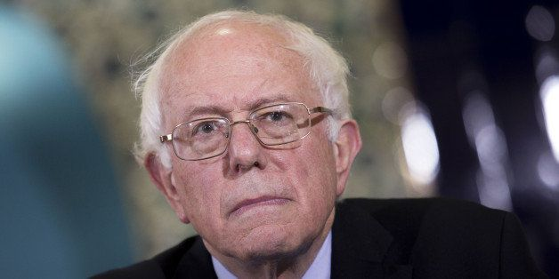 Senator Bernie Sanders, an independent from Vermont and 2016 Democratic presidential candidate, listens during an interfaith