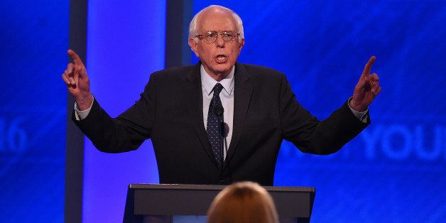 US Democratic Presidential hopeful Bernie Sanders participates in the Democratic Presidential Debate hosted by ABC News at th