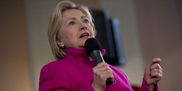 Hillary Clinton, former Secretary of State and 2016 Democratic presidential candidate, speaks during a town hall meeting at S