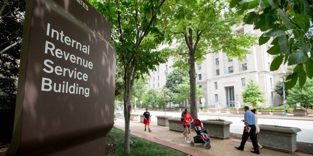 This photo taken Aug. 19, 2015 shows the The Internal Revenue Service (IRS) Building in Washington. No checks, please. If you