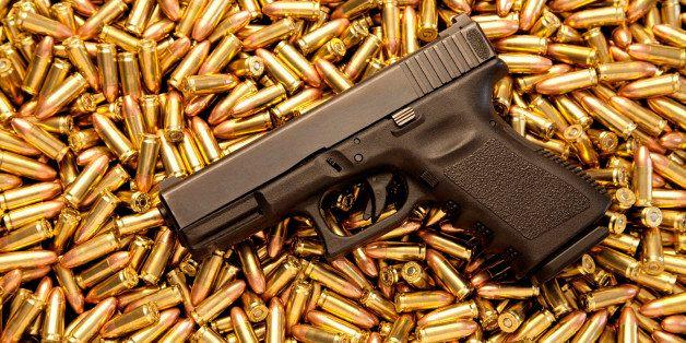Glock 9mm pistol with live ammunition