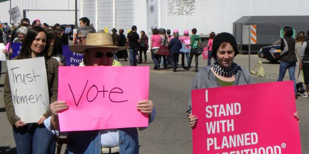 <b>St. Paul, Minnesota</b>  <b>April 6, 2012</b>  Supporters and opponents of Planned Parenthood held separate gatherings