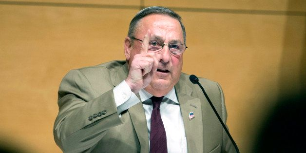 PORTLAND, ME - DECEMBER 8: Gov. Paul LePage brings his town hall tour to Portland, speaking at the Abromson Center at the Uni