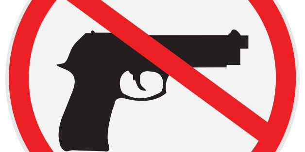 vector illustration of no guns allowed sign