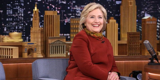 THE TONIGHT SHOW STARRING JIMMY FALLON -- Episode 400 -- Pictured: Presidential Candidate Hillary Clinton during an interview