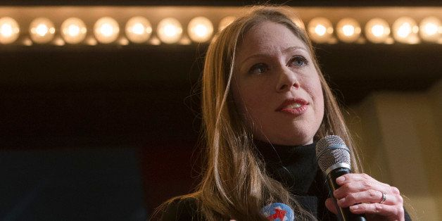Chelsea Clinton, daughter of Democratic presidential candidate Hillary Clinton, speaks during a campaign stop for her mother,