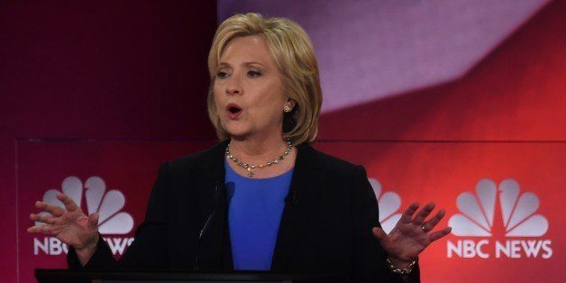 Democratic presidential candidate, former Secretary of State Hillary Clinton participates in the NBC News -YouTube Democratic