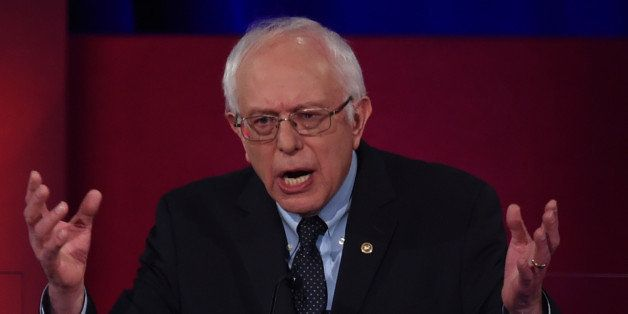 Democratic presidential candidate Bernie Sanders participates in the NBC News -YouTube Democratic Candidates Debate on Januar