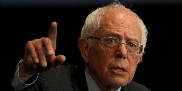 BIRMINGHAM, AL - JANUARY 18:  Democratic presidential candidate Sen. Bernie Sanders (I-VT) speaks at Boutwell Auditorium, Jan
