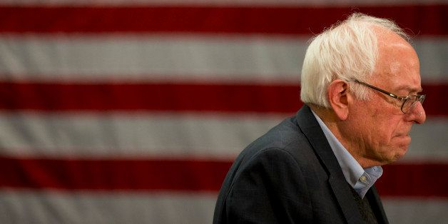 Democratic presidential candidate Sen. Bernie Sanders, I-Vt., pauses while speaking at a campaign event Sunday, Jan. 24, 2016