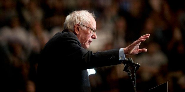 Democratic presidential candidate Sen. Bernie Sanders, I-Vt., speaks during a campaign stop Monday, Jan. 18, 2016, in Birming