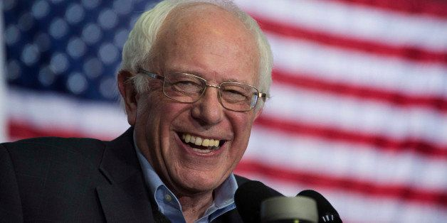 US Senator and Democratic Presidential Candidate Bernie Sanders speaks during a campaign event at the University of Northern