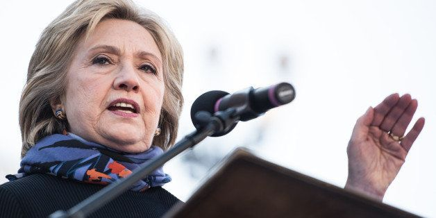 COLUMBIA, SC - JANUARY 18, 2016:  Democratic presidential candidate Hillary Clinton speaks to the crowd during the King Day a