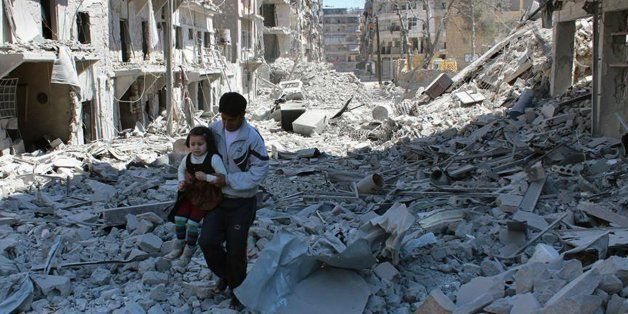FILE -- In This April 21, 2014, file photo, provided by the anti-government activist group Aleppo Media Center (AMC), which h