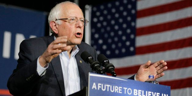 Democratic presidential candidate, Sen. Bernie Sanders, I-Vt, speaks during a campaign event at Music Man Square, Wednesday,