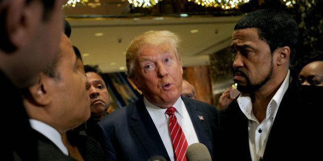 Photo by: Dennis Van Tine/STAR MAX/IPx 11/30/15 Donald Trump is joined by a coalition of 100 African-American evangelical pas