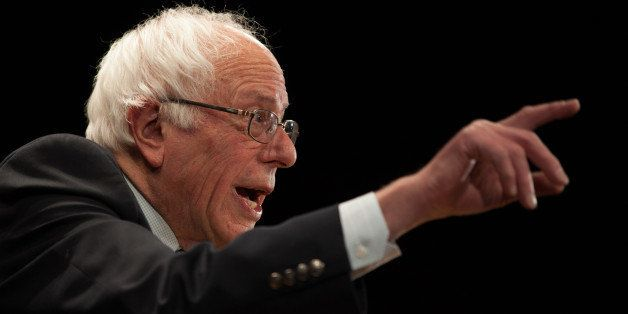 CLAREMONT, NH - FEBRUARY 02: Democratic presidential candidate Sen. Bernie Sanders (I-VT) speaks at the Claremont Opera House