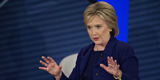 Hillary Clinton, former Secretary of State and 2016 Democratic presidential candidate, speaks during a Democratic Presidentia