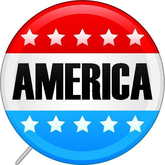 A United States of America presidential election voters pin. Whether you are Republican, Democrat or Independent, show your c