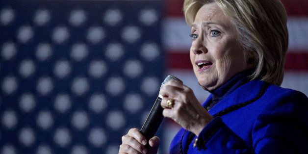 Hillary Clinton, former Secretary of State and 2016 Democratic presidential candidate, speaks during a campaign event in Manc