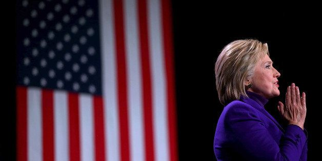MANCHESTER, NH - FEBRUARY 05:  Democratic presidential candidate former Secretary of State Hillary Clinton speaks at the 2016